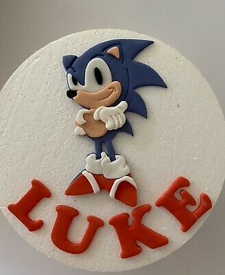 """Sonic The Hedgehog Personalised Edible Birthday Cake Topper A4 10/"""" x 7.5/"""" #2"""
