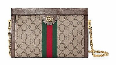 NWT Authentic Gucci Ophidia Linea Dragoni Small GG Canvas Chain Shoulder Bag