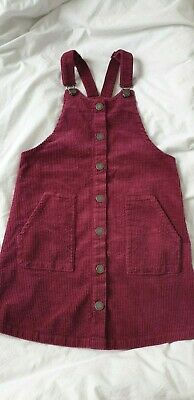 Girls Next Cord Pinafore Dress. 6 Years. BNWT in Berry Colour