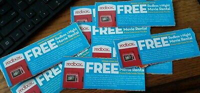 Group #1    8 Redbox Codes for 1-Night Movie Rental  1/31/21