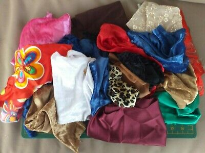 Mixed sewing Fabric Craft Costume Offcuts Scraps Remnant Bundle  500g