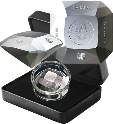 2020 Forevermark Diamond Shaped Coin $50 3OZ Pure Silver Proof Coin Canada