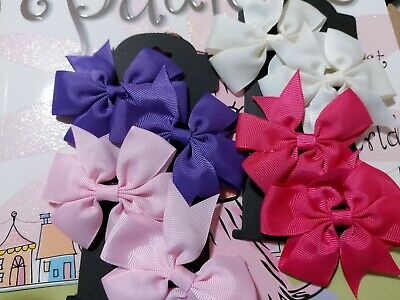 5 and 3 Inch Big Bows Boutique Hair Clip Pin Alligator Grosgrain Ribbon Bow Girl