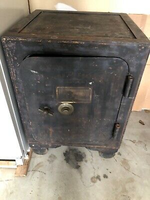Victorian Antique Iron Safe, Original Paint, Diebold of Ohio With Combination