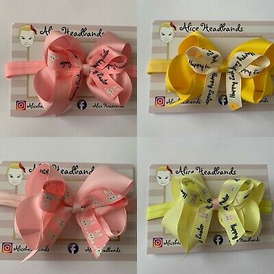 Baby Headbands 4inch Bow Bunny Ears Easter Toddler Girls Hair bows Variety + Lot