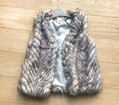 MARKS & SPENCER *7-8y GIRLS FAUX FUR GILET JACKET 7-8 YEARS