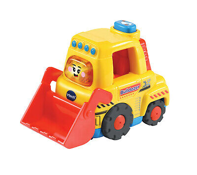 Vtech Toot-Toot Drivers Bulldozer Yellow Preschool Toy With Songs, Melodies and