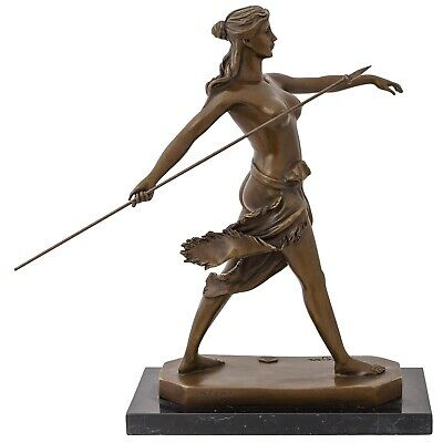 Escultura de bronce amazon warrioress bronce figura estatua estilo antiguo 30cm