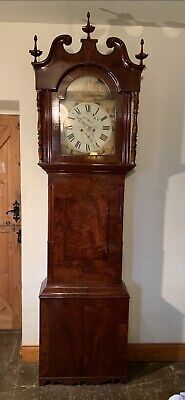 Impressive Antique Grandfather Clock, Standing 8ft Tall, W. Flather Halifax