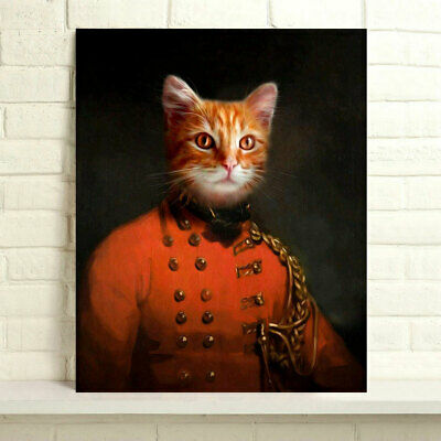 Hand-painted Animals Oil Painting on Canvas The Ginger Prince 24x30inch Unframed