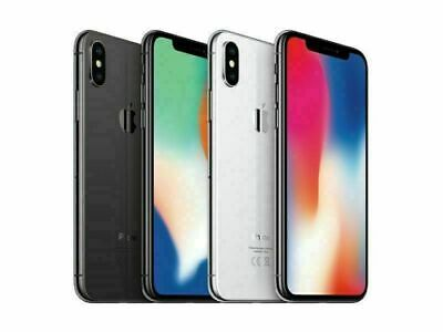 Apple iPhone X 64GB 256GB Factory Unlocked Smartphone - All Colours - Grade A+++