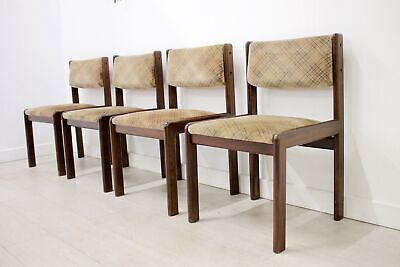 DELIVERY £60 Mid Century Retro Set of 4 Teak Dining Chairs by G-Plan, 1970s