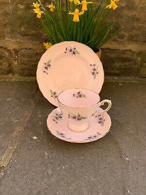 Vintage Trio Lilac Pink Tuscan fine English Bone China
