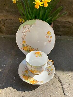 Vintage Trio Floral Roslyn Fine Bone China