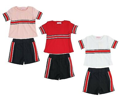 Girls Kids T-shirt and Shorts Pants Set Summer 2 Piece Outfit Kids Age 4-14 Year