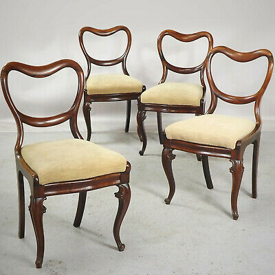 Antique Rosewood Dining Chairs (delivery available) Balloon Back C1850