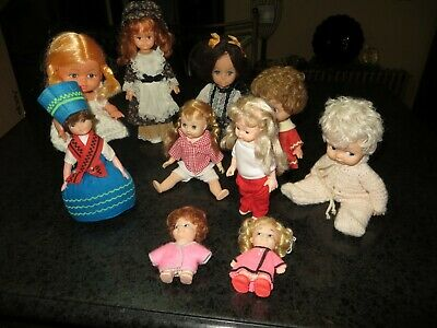 Lot of 10 Vintage Dolls all made in Hong Kong