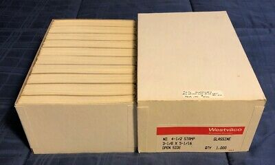 Box of 1000 NEW #4 1/2 Glassine Envelopes 3 1/8 x 5 1/16