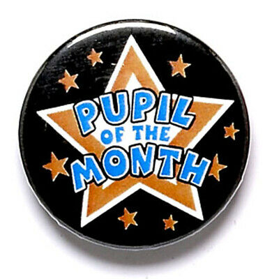 Personalised Engraved Pupil Of The Month Button Badge Great Player Team Award