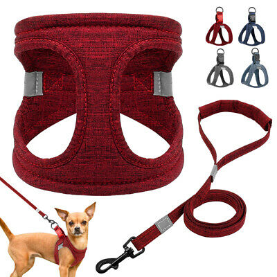 Mesh Air Padded Dog Harness and Leash Set Soft Pet Puppy Dog Vest Reflective