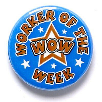 Personalised Engraved Worker Of The Week Button Badge Great Player Team Award