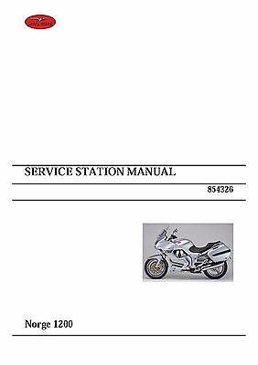 Moto Guzzi workshop service manual 2006 Norge 1200