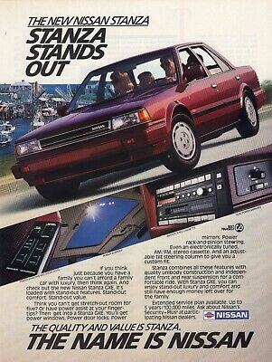 1987 Nissan Sentra Coupe Classic Advertisement Ad P81