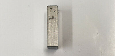 7.5mm Webber Starrett Rectangle Steel Gage Gauge Block. shelf-f4 #2 webber box
