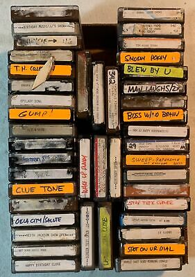 45 Broadcast Radio Statgion 4-Track Tapes Fidelipac Audiopak Scotch Cart