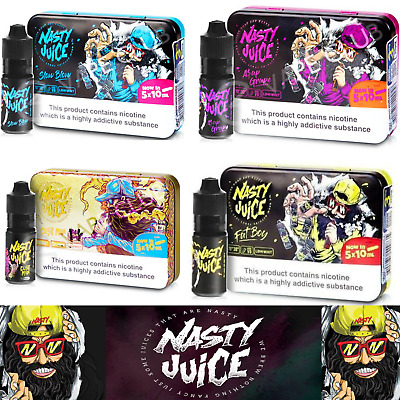 Nasty e Juice  5X10ml All Flavours liquid in Stock