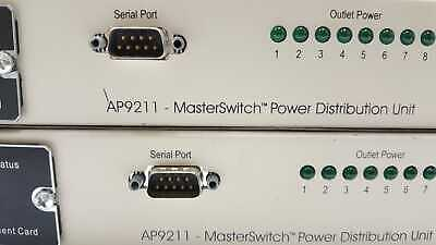 APC AP9211 9210 Master Switch Network Power Controller Rack 8 Outlet