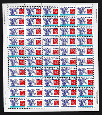 Canada — Full Pane of 50 — 1974, Universal Postal Union #649 — MNH