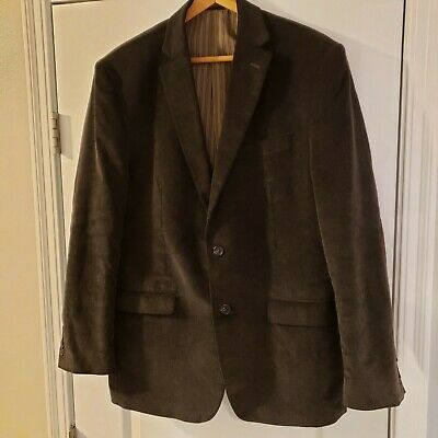 Chaps Ralph Lauren Mens Dark Brown Blazer Sport Coat Cotton Corduroy Jacket 42R