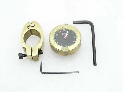 Black Dial Brass Handle Watch With Clamp Suitable For Royal Enfield @Cl