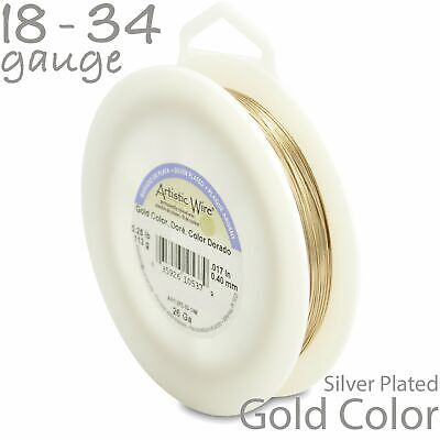 Gold Artistic Wire 1/4LB Spool - Tarnish Resistant Silver Craft Wire