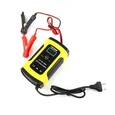 12V 6A Smart Fast Lead-acid Battery Charger Car Motorcycle LCD Display EU Plug