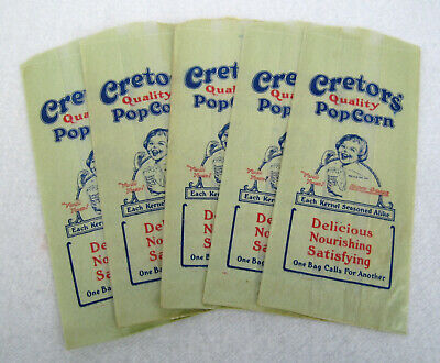 "Vintage Popcorn  Bag 3 1//2/"" x 2/"" x 8/"" #510 Pack of 100 Circus Movie Ballpark"