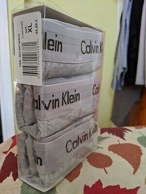 Calvin Klein 3 Pack Mens Underwear Cotton Stretch Boxer Briefs,XL