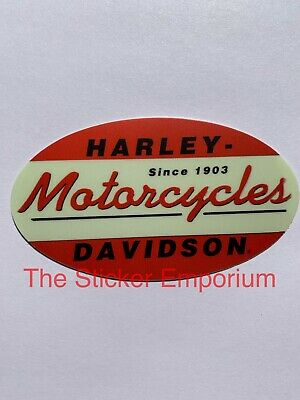 Harley Davidson Motorcycle VINTAGE style sticker , Old school Helmet Decal
