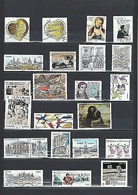 Rare 2019 Annee Complete Timbres Gommes France Obliteres