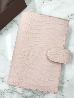 Gillio Medium Compagna Personal rings Blush Pink Croco. With dust bag and box.