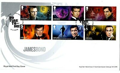 2020 GB JAMES BOND First Day Cover + Stamps Mini Sheet +Machin Pane FDC 17/03/20