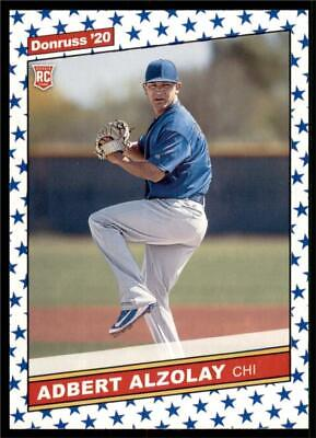 2020 Donruss Retro 1986 Variations Independence Day #258 Adbert Alzolay