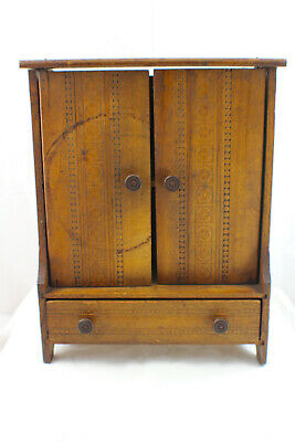 Antique Art Nouveau Saleman's Sample Wardrobe Doll Furniture c.1905