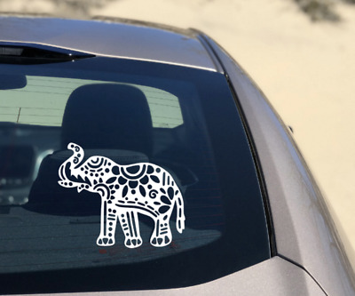 Elephant Mandala Decal Sticker Mindful Buddhism Car Window Laptop Quality Vinyl