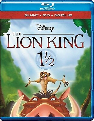 Disney's The Lion King 1 1/2 (Blu-ray/DVD, 2017, 2-Disc Set)