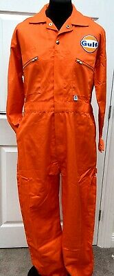 """Goodwood Revival Vintage Classic Retro Gulf Badge McQueen Overalls 48"""" Chest"""