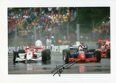 Sutton 12X8 signed photo Gil de Ferran Champ and Indy 500 winner