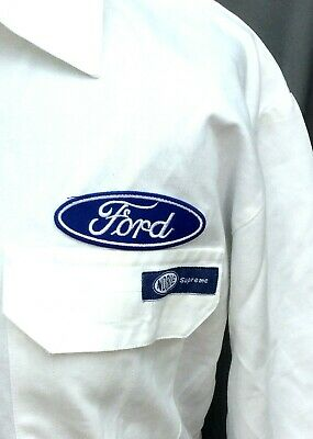 """Superb Vintage 100% Cotton Goodwood Retro Ford Badged Overalls 48-50"""" Chest"""