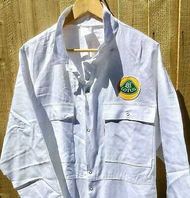 """100% Cotton Goodwood Revival Vintage Retro Lotus Badged Overalls 48 - 50"""" Chest"""